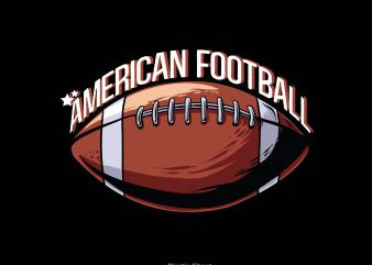 American football t shirt vector
