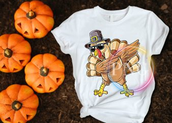 Turkey Dabbing Happy Thanksgiving Day T shirt Design Funny