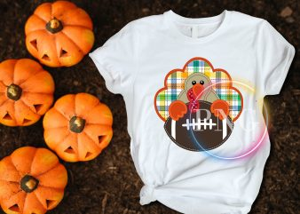 Turkey Football Fan Boys Thanksgiving T shirt design