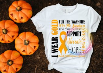 I wear gold for the warriors for the survivors T shirt design