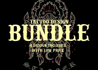tattoo design bundle by pacoceng tshirt design