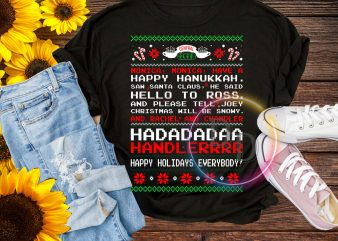Happy Hanukkah Christmas T shirt Design