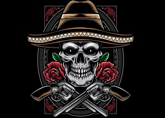 Cavaleras Mexicano t shirt vector file