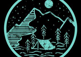 camp tshirt design