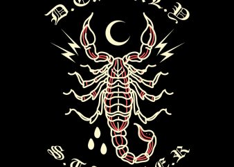 scorpion tshirt design