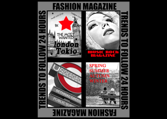 Fashion Magazine t shirt graphic design