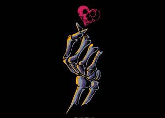 finger heart t shirt graphic design