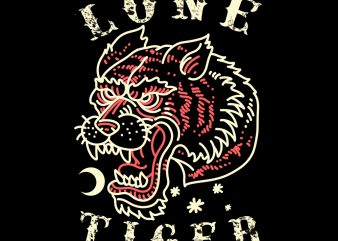 lone tiger tshirt design
