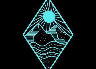 mountain vector t-shirt design