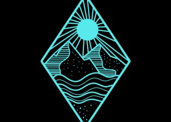 mountain tshirt design