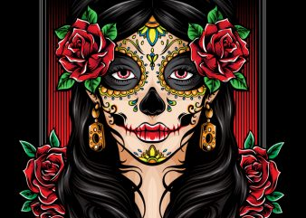 Dia de Muertos t shirt vector illustration