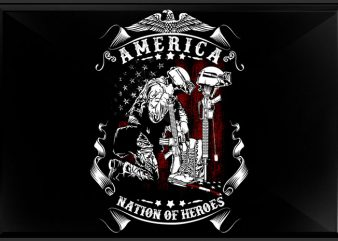 Nation of Heroes T shirt vector artwork