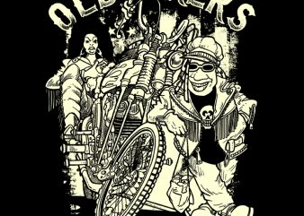 old bikers t shirt design online