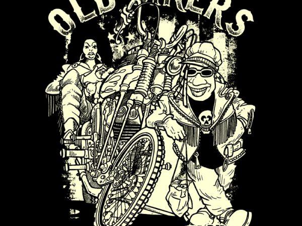 old bikers t shirt design online