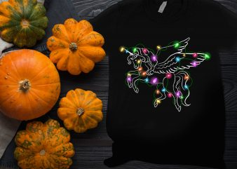 Unicorn Lighting Thanksgiving Christmas T shirt