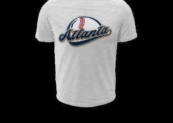 ATLANTA BASEBALL t shirt vector