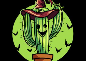 vector cactus pumkin vector t-shirt design