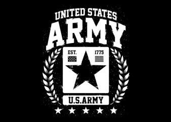 United States ARMY t shirt vector graphic