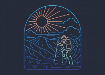 Hiker Line graphic t shirt