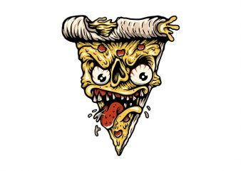 Pizza Monster t shirt illustration