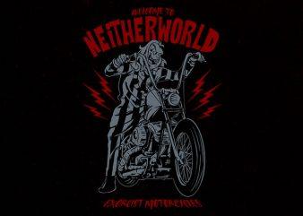 juicy biker tshirt design