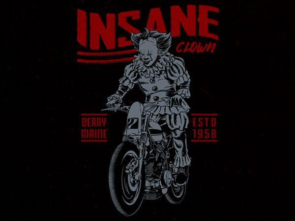 floating biker tshirt design