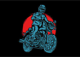 American Legend Motorcycle t shirt vector
