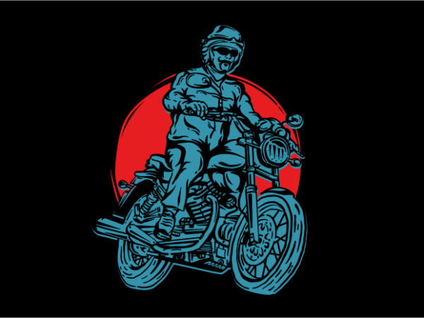American Legend Motorcycle t shirt vector