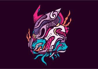Auma vector t-shirt design template