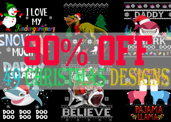 SPECIAL CHRISTMAS BUNDLE PART 1- 49 EDITABLE DESIGNS – 90% OFF-PSD and PNG – LIMITED TIME ONLY!