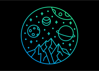 Deep Space 717 t shirt vector illustration