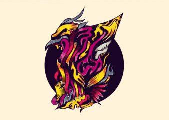 Eagle Zark vector t-shirt design template