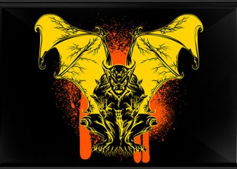 Gargoyle t shirt design template
