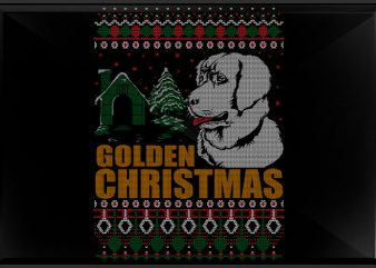 Golden x mas t shirt design template