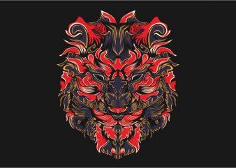Lionz vector t-shirt design template