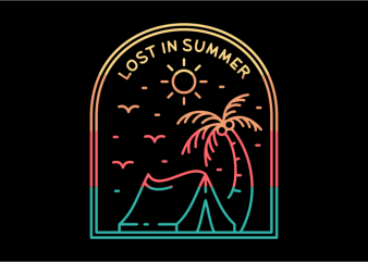 Lost in Summer t shirt vector graphic