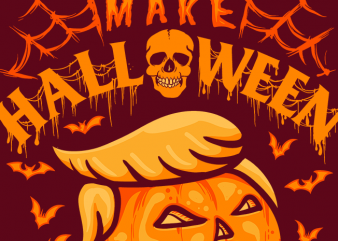 Make Halloween Scary Again t shirt designs for sale