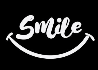 smile t shirt template vector