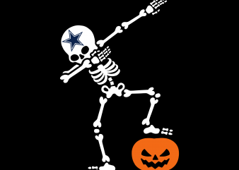 Dallas Coyboys Png, Dallas Cowboys Funny Halloween, Png t shirt vector illustration