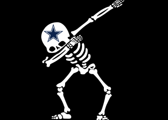 Dallas Cowboys, Dallas Cowboys funny Halloeen t shirt vector illustration