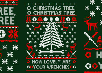 Wrenches Tree t shirt design for sale