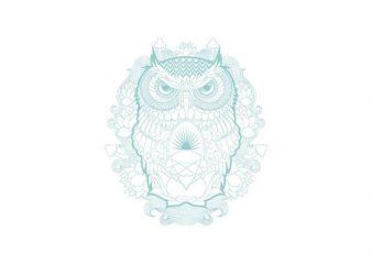 owl ornament Vector t-shirt design