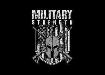 military strengh Vector t-shirt design