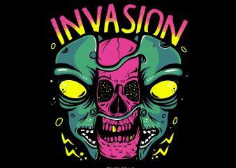 Alien Invasion t shirt vector