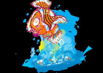 clown fish shirt designs