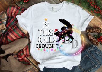 Is This Jolly Enough ? Cat Lights Christmas T shirt