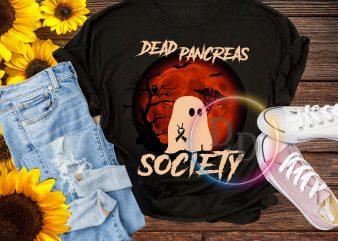 Ghost Dead Pancreas Society Halloween T shirt design