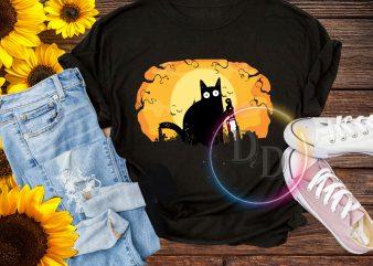 Halloween Cat What? T shirt design