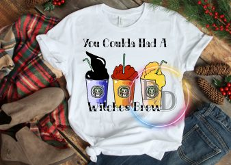 You Coulda Had A Witches Brew Halloween Milk Tea Witch sister T shirt