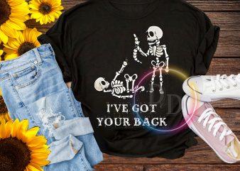 Skeleton I've got your back T shirt Halloween Costume